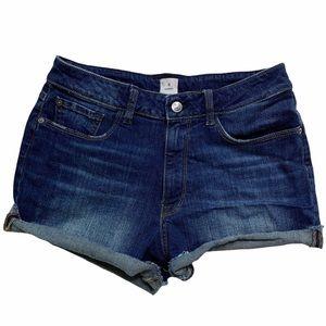 Madison Morgan High Rise Denim Jean Shorts